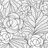 Photo seamless flower pattern