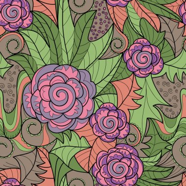 vector seamless flower background