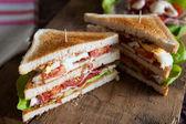 čerstvě vyrobené clubsandwich