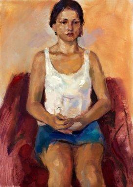 "Картина, постер, плакат, фотообои ""портрет молодой леди фото фотографий коллаж модульные"", артикул 13274944"