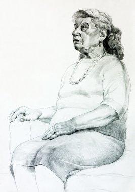 """Картина, постер, плакат, фотообои """"портрет пожилой женщины фото арт"""", артикул 16040937"""