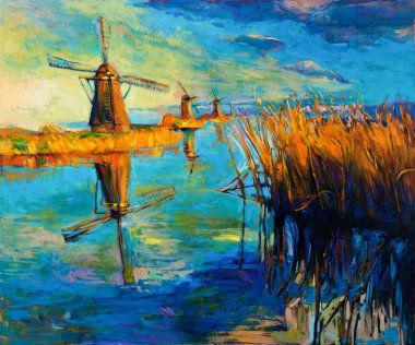 """Картина, постер, плакат, фотообои """"ветряные мельницы"""", артикул 18370679"""