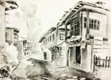"Картина, постер, плакат, фотообои ""Болгарское село улица"", артикул 19166881"