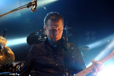 POZNAN, POLAND - MARCH 01: Scottish music band Simple Minds performs at Sala Ziemi MTP March 01, 2014 in Poznan, Poland.