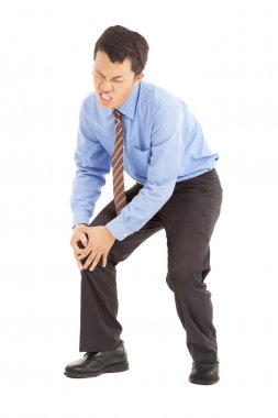 Businessman with knee pain