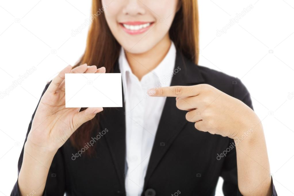 Beautiful asian business woman showing business card stock photo beautiful asian business woman showing business card photo by tomwang colourmoves