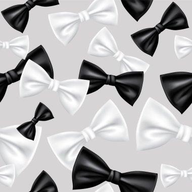 Seamless bow tie pattern