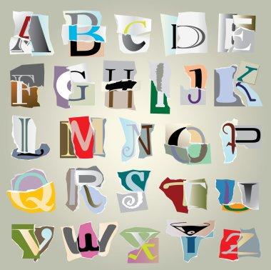 Vector set alphabet