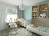 Fotografie domácí interiér dětského pokoje
