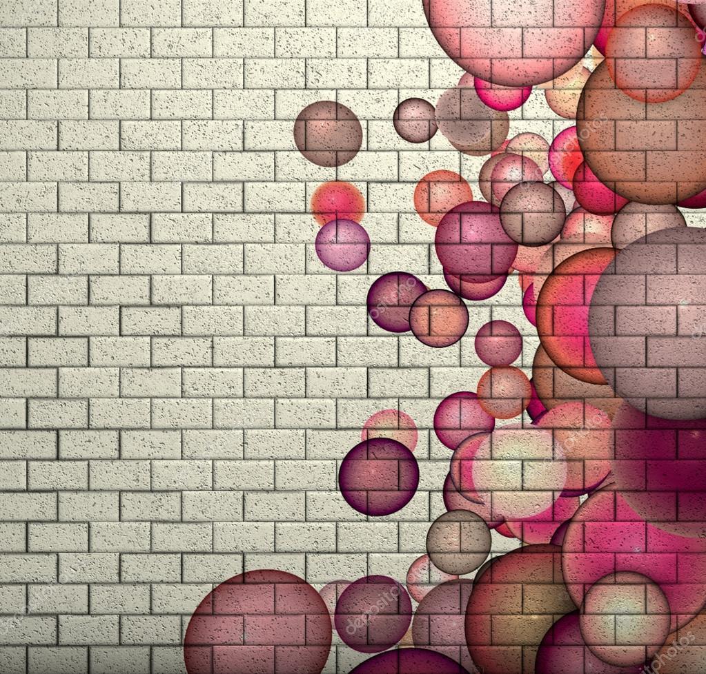 Mur De Briques De 3d Mosaique Carrelage Avec Motif Rose Bubble