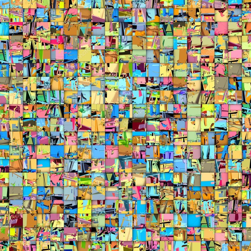 Decor Mosaique Mosaique Abstraite En Plusieurs Couleurs