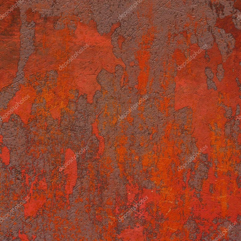 Rot Braun 3d Abstract Grunge Ebene Wand Streichen U2014 Stockfoto