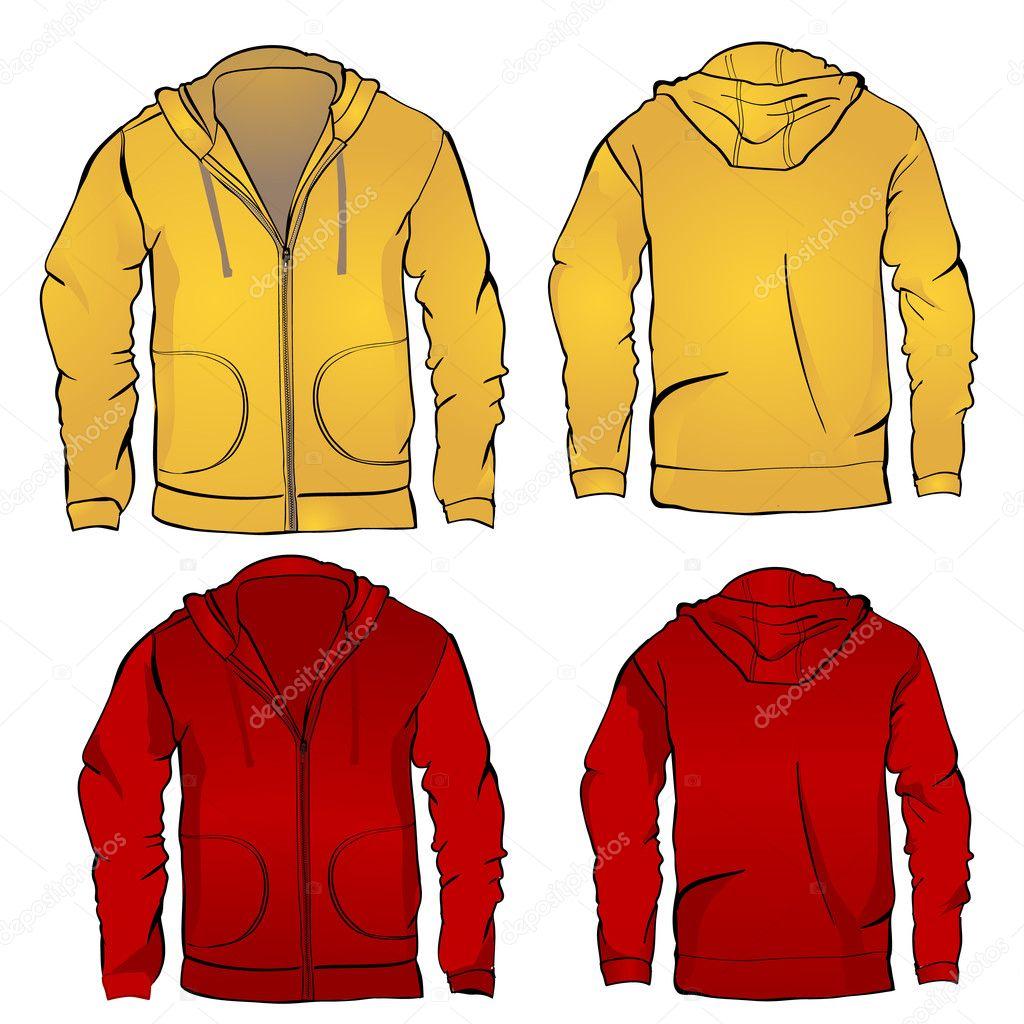 Hoodie-Sweatshirt-Vorlage — Stockvektor © rsinha #31009811