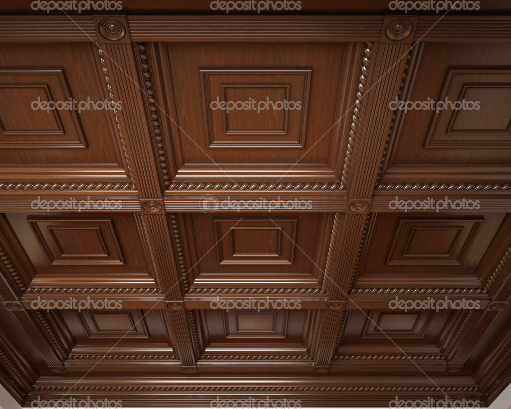 plafond caisson en bois classique photographie traffic 40954773. Black Bedroom Furniture Sets. Home Design Ideas