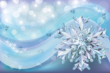 Christmas background with diamond snow, vector illustration