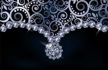 Diamond background, vector illustration