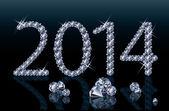 Diamond Happy New 2014 Year banner, vector illustration