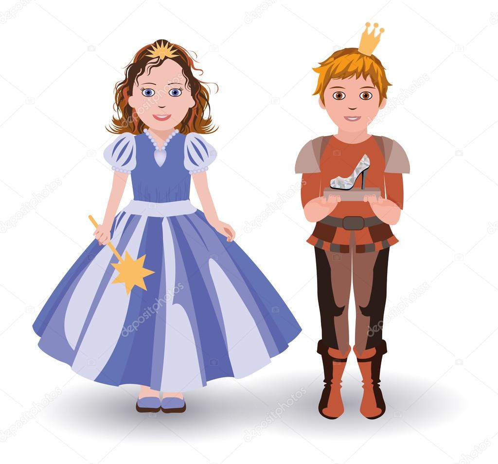 great deals 2017 newest quality Little Cinderella princess and prince with glass slipper ...
