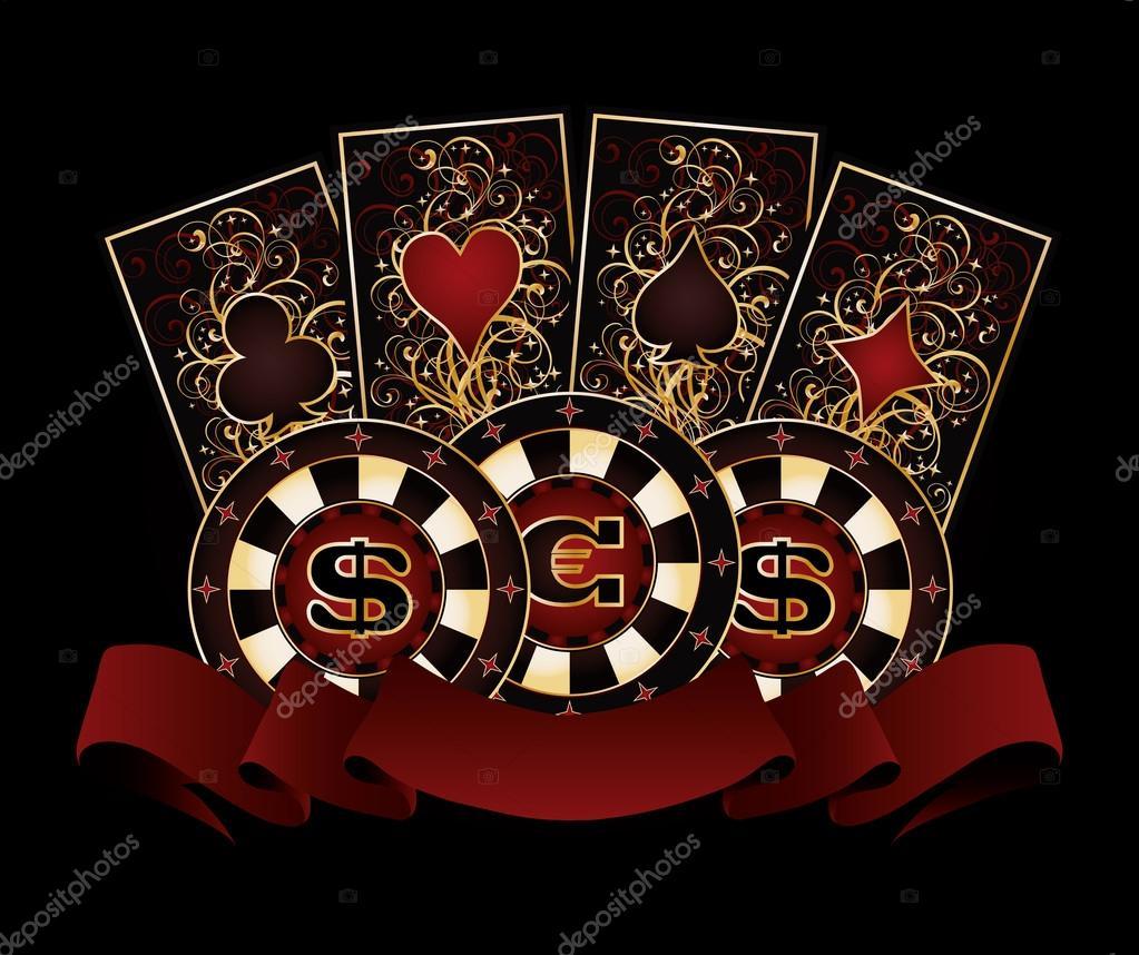 карты деньги казино кружка блюдце масти