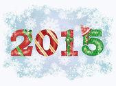 2015 frohes neues Jahr Hintergrund. Vektorillustration