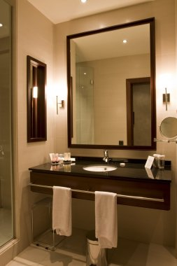 Elegant hotel or apartment bathroom