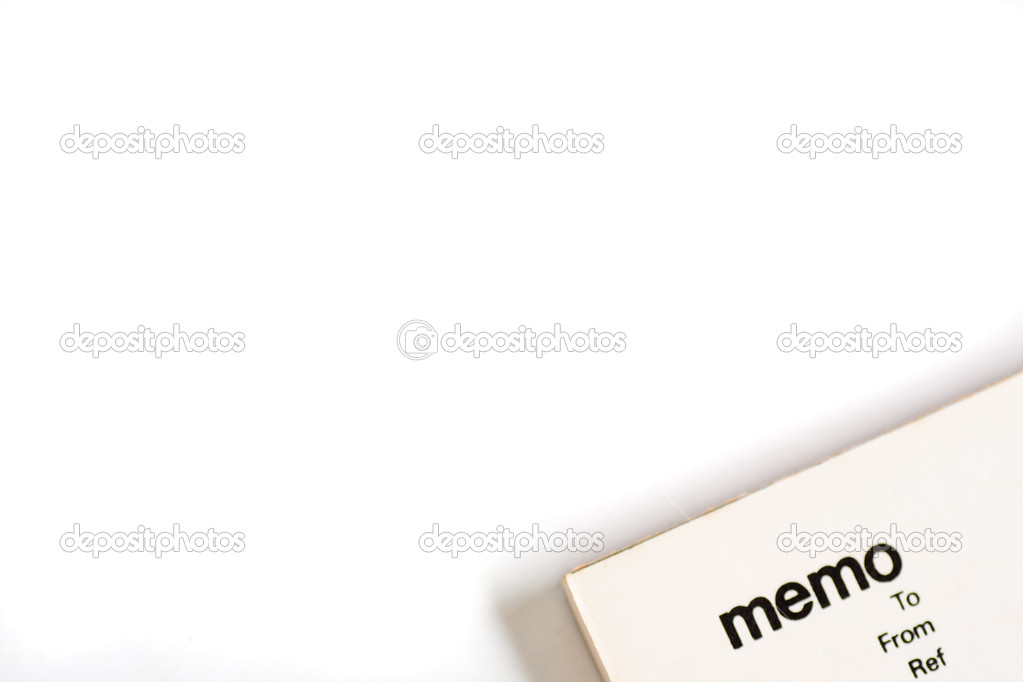 Blank Memo Pad Notebook  Stock Photo  Hfng