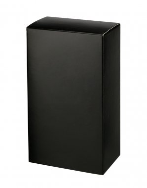 Black cosmetic packaging box