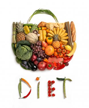 Diet food handbag