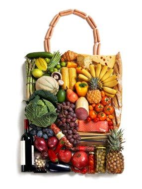 Exclusive foods made handbag