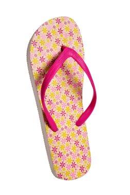 Beach flip flops - Pink flower