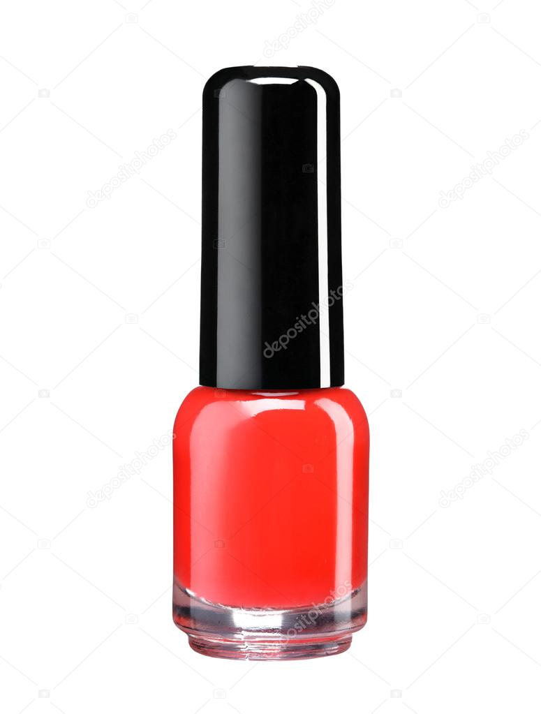 bouteille de vernis à ongles rouge laque — Photographie RomarioIen ...