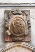Historický palác. noci. Puglia. Itálie