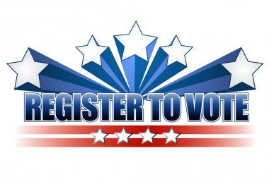 Register to vote illustration design