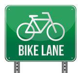 Bike lane znamení ilustrace design