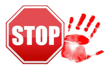 stop handprint illustration design
