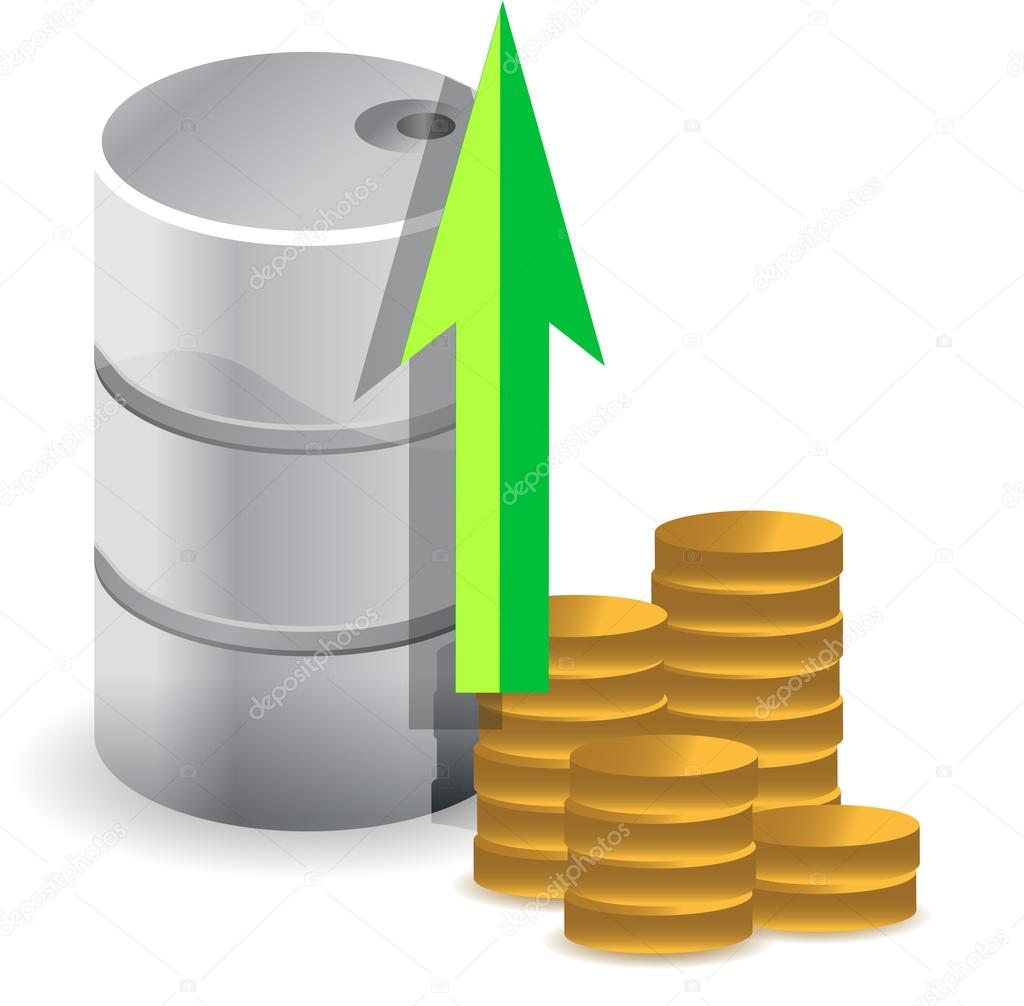 Oil prices increasing illustration design concept