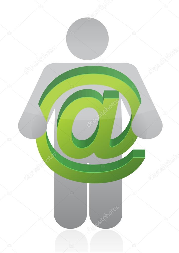 Icon Carrying A Att Sign Stock Photo Alexmillos 14696399