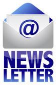 Newsletter-Konzept-Bild von Text und e-Mail