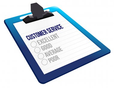 Questionnaire of customer service feedback icons