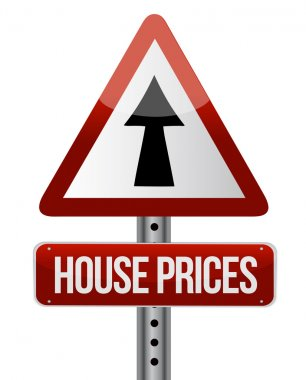 'house prices rise' sign