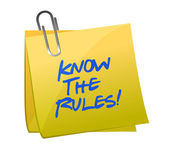 die Regeln kennen, die auf einem Beitrag geschrieben sind, den sie beachten