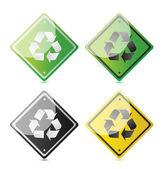 recyklované symbol v jiném formátu eco