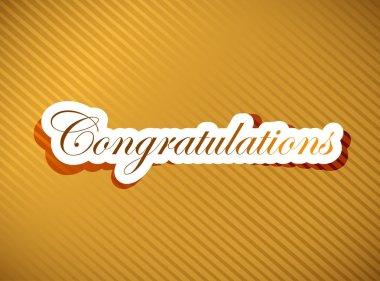 Congratulations lettering