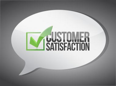 customer support message communication concept