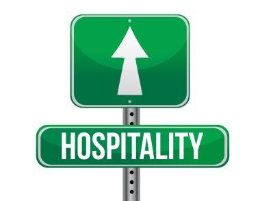 hospitality road sign illustration design