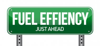 fuel efficiency road sign illustration design