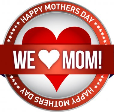 Happy mother s day rubber stamp seal illustration