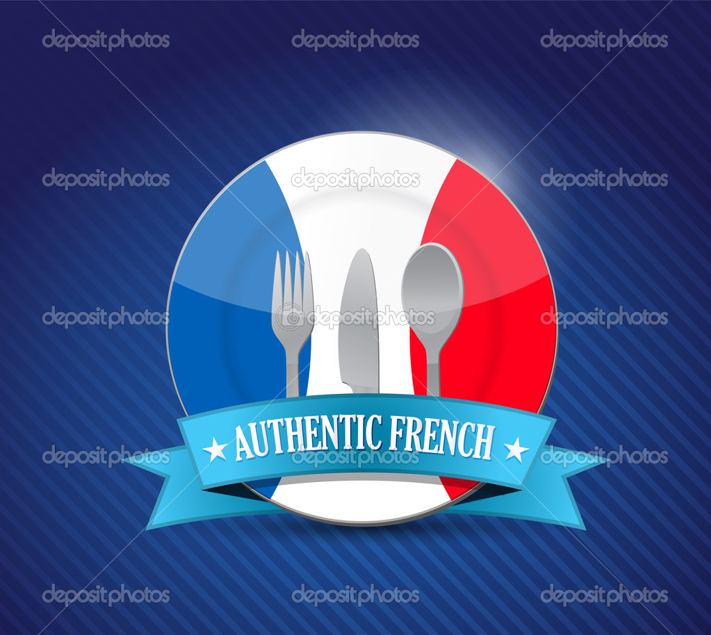 Restaurante franc s tradicional ilustraci n de men for Restaurante frances