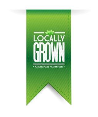 locally grown banner concept illustration design