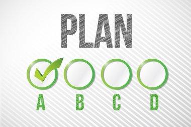 choosing plan a illustration design